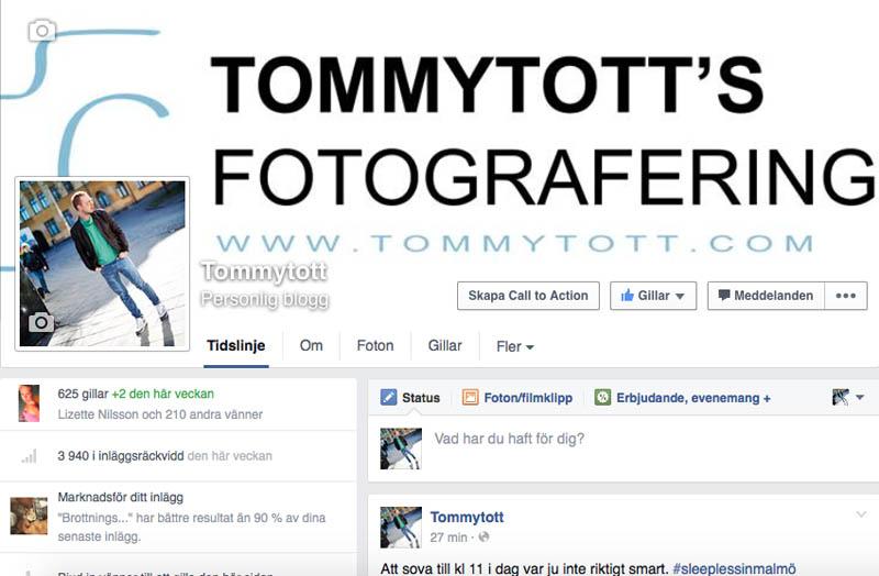 Tommytott på facebook